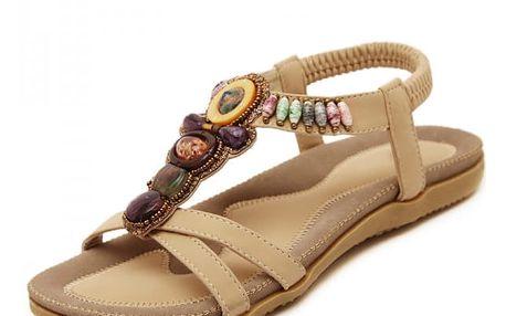 Zdobené měkké sandály - 2 barvy