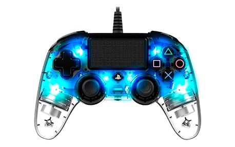 Nacon Wired Compact Controller pro PS4 (ps4hwnaconwicccblue) modrý/průhledný