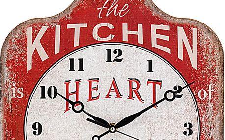 Kuchyňský nástěnné hodiny Krájecí prkénko, dřevěný Emako