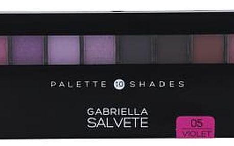 Gabriella Salvete Palette 10 Shades 12 g oční stín 05 Violet W