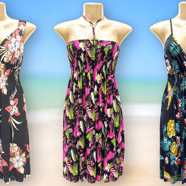 Dámské pestrobarevné letní šaty