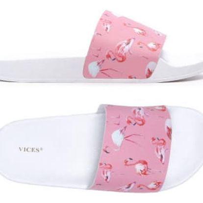 Dámské růžové pantofle Flamingo 107