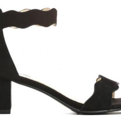 Dámské černé sandály na podpatku Celyn 2203