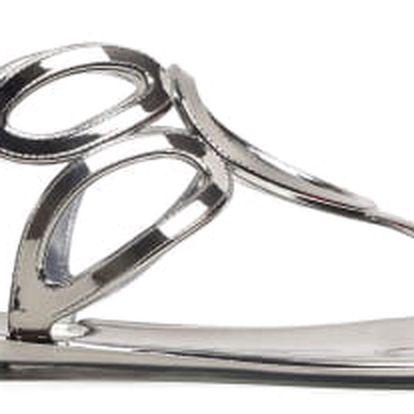 Dámské tmavě stříbrné sandály Aiden 095