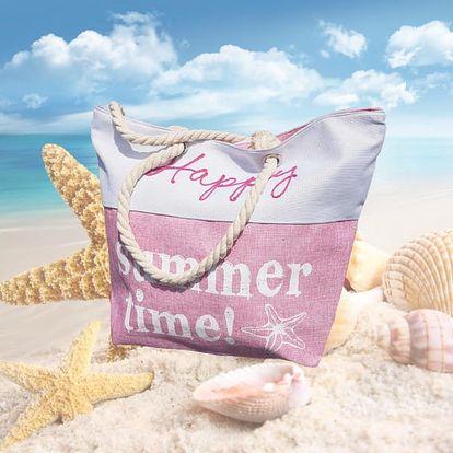 Plážová taška s nápisy Summer Time