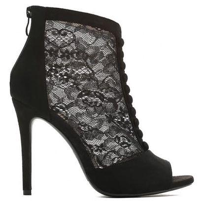 Dámské černé sandály na podpatku Ester 1424