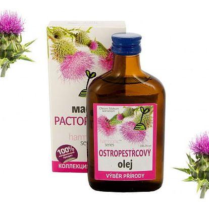 100% Ostropestřcový olej 200 ml - Pro zdravá játra a žlučník!