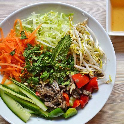 Veganské Bún bò Nam Bộ nebo Bun Cha