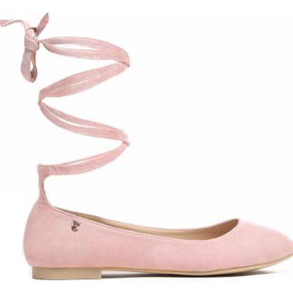 Dámské růžové baleríny Ritta 1161