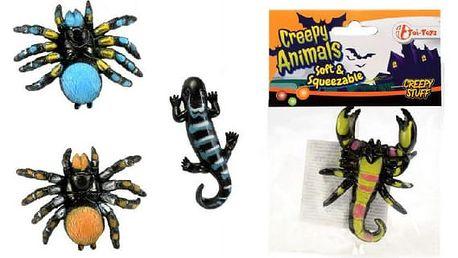 Děsivá havěť ze slizu Creepy Animals 4 ks
