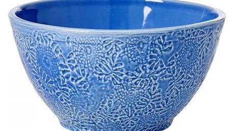 rice Salátová miska Embossed Blue, modrá barva, keramika