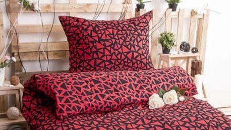 XPOSE ® Bavlněné povlečení XENIE DUO - červená 140x200, 70x90