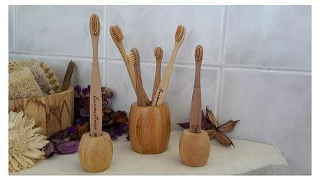 Bambusový stojánek na zubní kartáčky Curanatura
