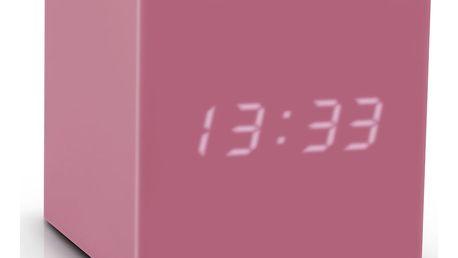 Růžový LED budík Gingko Gravitry Cube