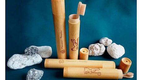 Bambusové pouzdro na zubní kartáčky Curanatura
