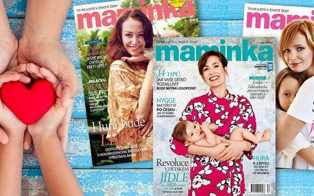 Roční předplatné oblíbeného časopisu Maminka