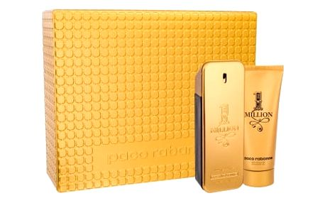 Paco Rabanne 1 Million 100 ml dárková kazeta dárková sada pro muže toaletní voda 100 ml + sprchový gel 100 ml
