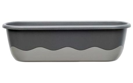 Plastia Samozavlažovací truhlík MARETA 17,5 x 60 x 19,5 cm antracit tm. + antracit sv.