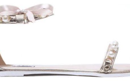 Dámské zlaté sandály Mellinda 6110