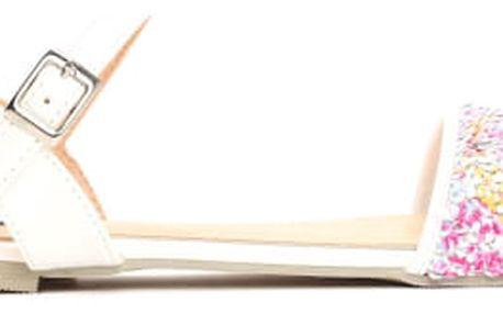 Dámské bílé sandály Barbara 9027