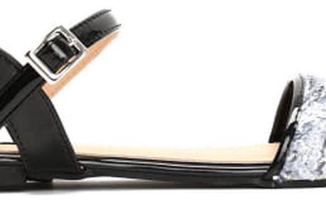 Dámské černé sandály Barbara 9027