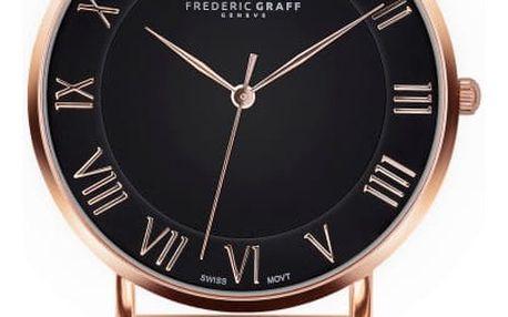 Unisex hodinky s páskem z nerezové oceli v růžovozlaté barvě Frederic Graff Rose Dom Gold