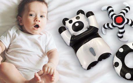 Černobílé nafukovací hračky pro rozvoj miminek