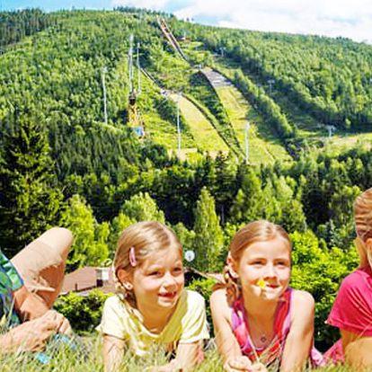 Léto s rodinou v Harrachově na 8 dní s polopenzí a bonusem