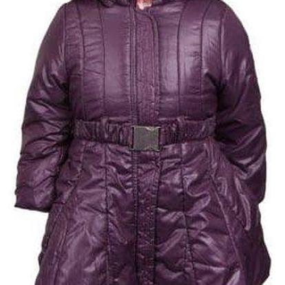 Dívčí zimní kabát fialový vel. 98