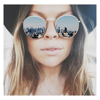 Retro kulaté sluneční brýle Lennon