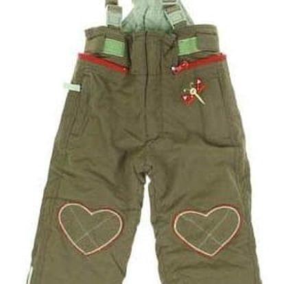 Zateplené kalhoty se srdíčky vel. 92