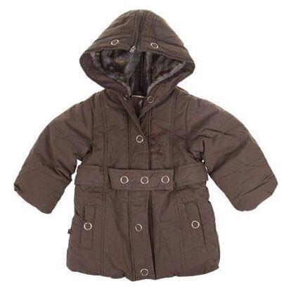 Dívčí zateplený kabát hnědý vel. 92