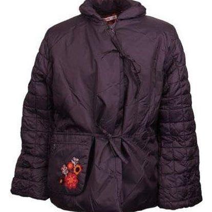 Dívčí lehká prošívaná bunda fialová vel. 158
