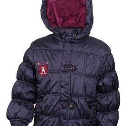 Dívčí prošívaná bunda tmavě modrá vel. 92