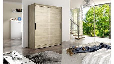Velká šatní skříň WESTA I sonoma šířka 150 cm