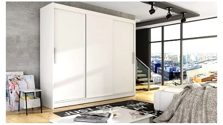 Velká šatní skříň ASTON II bílá šířka 250 cm