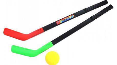 Plastové pozemní hokejky s pukem 2 ks