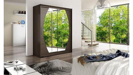 Velká šatní skříň WESTA VIII čokoládová šířka 150 cm