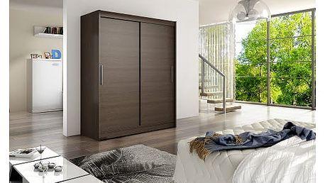Velká šatní skříň WESTA I čokoládová šířka 150 cm
