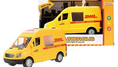 Dodávka DHL se světly, zvuky a setrvačníkem