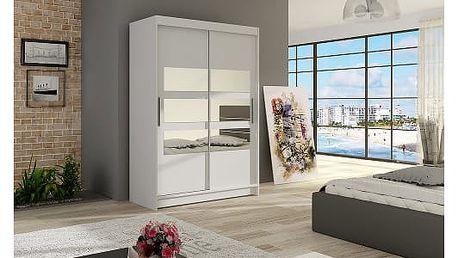 Velká šatní skříň MIAMI V bílá šířka 120 cm
