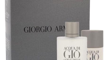 Giorgio Armani Acqua di Gio Pour Homme 100 ml dárková kazeta dárková sada pro muže toaletní voda 100 ml + deostick 75 ml