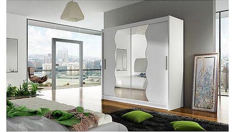 Velká šatní skříň BEGA X bílá šířka 150 cm