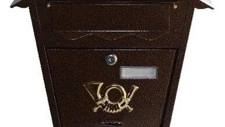 Poštovní schránka Antická hnědá