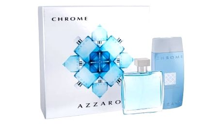 Azzaro Chrome 100 ml dárková kazeta dárková sada pro muže toaletní voda 100 ml + sprchový gel 200 ml
