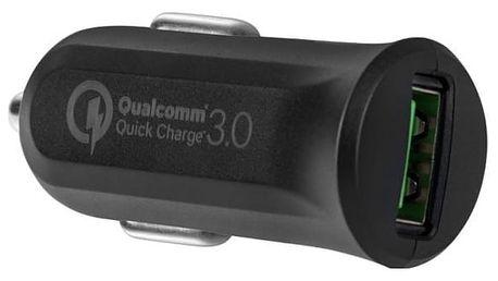 Autonabíječka Avacom CarMAX, 1x USB (3A), s funkcí rychlonabíjení QC 3.0 černý (NACL-QC1X-KK)