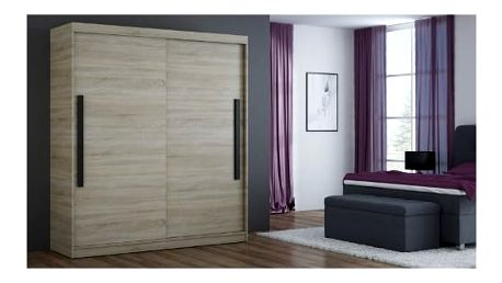 Šatní skříň 180 cm BONA dub sonoma
