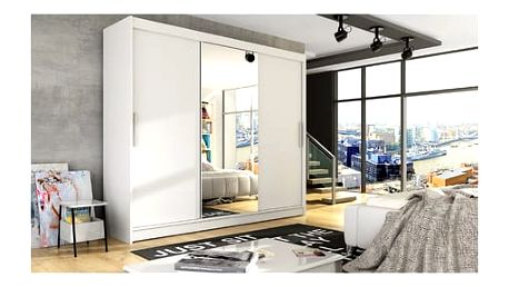 Velká šatní skříň ASTON I bílá šířka 250 cm