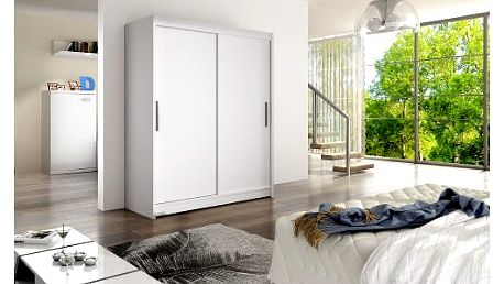 Velká šatní skříň WESTA I bílá šířka 150 cm