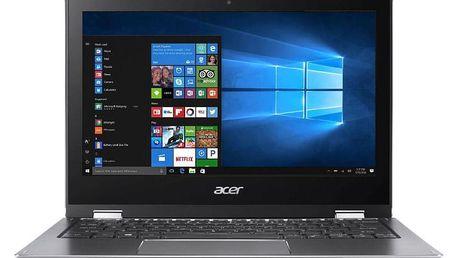 Notebook Acer 1 (SP111-32N-C2RB) + stylus (NX.GRMEC.001) šedý Software F-Secure SAFE, 3 zařízení / 6 měsíců + Monitorovací software Pinya Guard - licence na 6 měsíců v hodnotě 979 Kč + DOPRAVA ZDARMA